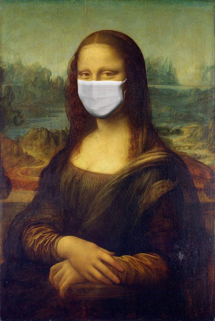 coronavirus maschera monnalisa